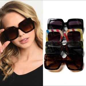 New! Oversized Square Sunglasses Various Colors